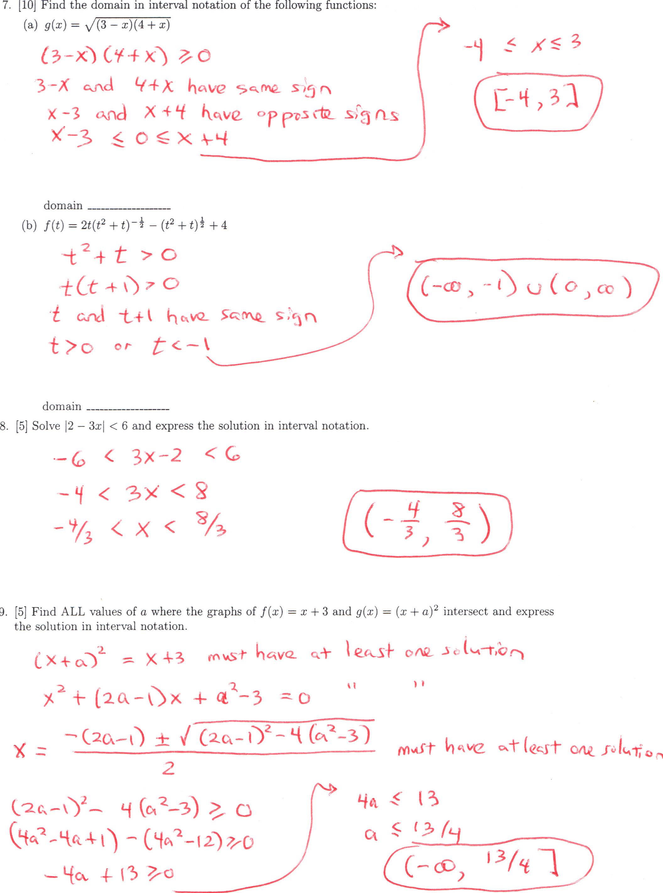 dr  schechter u0026 39 s calculus classes  fall 2010