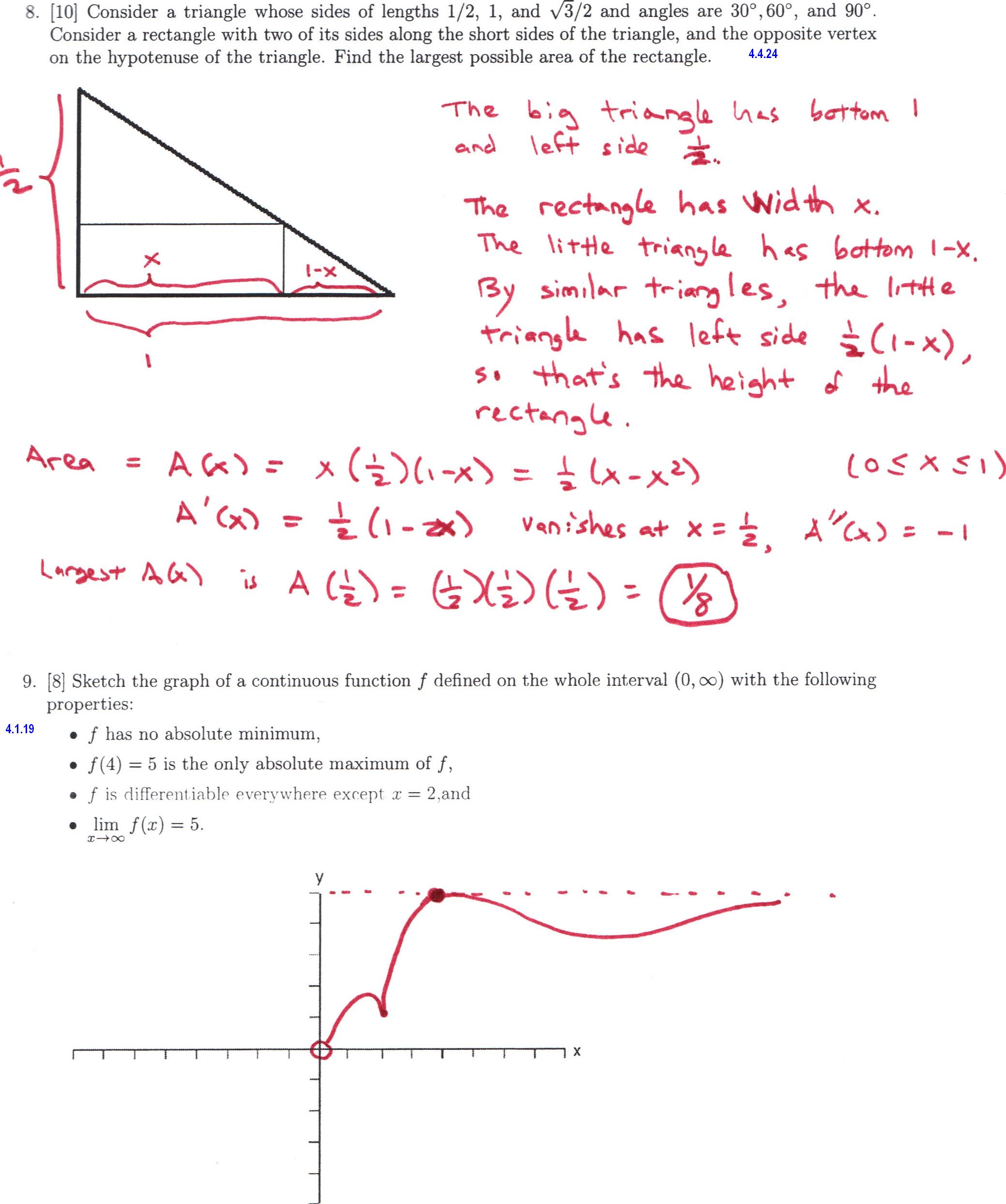 100 special right triangles worksheet 30 60 90 answers 15 special right triangles worksheet 30 60 90 answers dr schechter u0027s calculus classes spring 2011 robcynllc Image collections